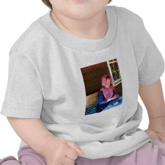 Cordón del encaje de fantasia camisetas