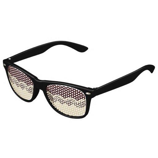 Cordón del ganchillo gafas de fiesta