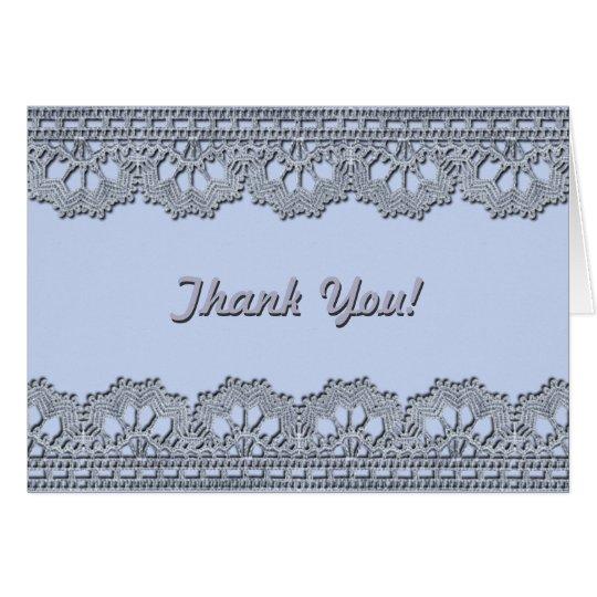 Cordón del ganchillo tarjeta de felicitación