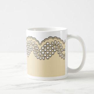 Cordón del ganchillo taza de café