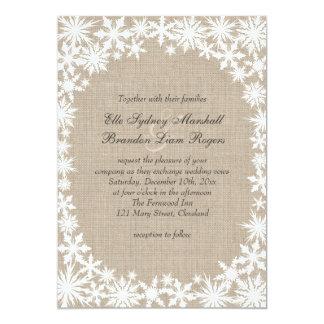 Cordón del invierno en la invitación del boda de