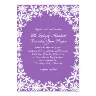 Cordón del invierno en la invitación púrpura del