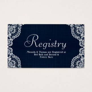 Cordón del país y tarjeta del registro del boda tarjetas de visita