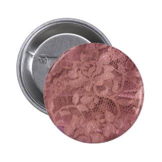 Cordón del rosa color de rosa pin redondo de 2 pulgadas