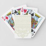 Cordón del vintage cartas de juego