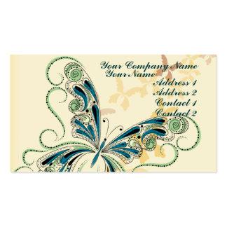 Cordón del vintage tarjetas de visita