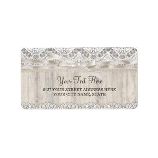 Cordón del vintage y etiqueta de dirección