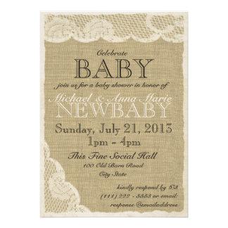 Cordón del vintage y fiesta de bienvenida al bebé  anuncio