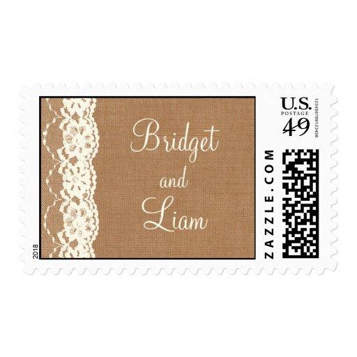Cordón del vintage y sello de marfil del boda de l