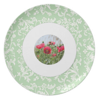 Cordón elegante de la primavera y placa floral