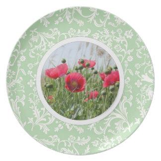 Cordón elegante de la primavera y placa floral 2