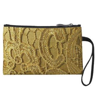 Cordón elegante del oro del vintage de la moda