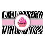 Cordón elegante del rosa de la panadería de la mag tarjeta de visita