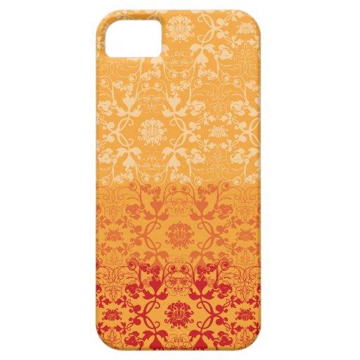Cordón elegante elegante elegante del damasco del  iPhone 5 carcasas