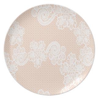 Cordón elegante femenino elegante lindo elegante plato de cena