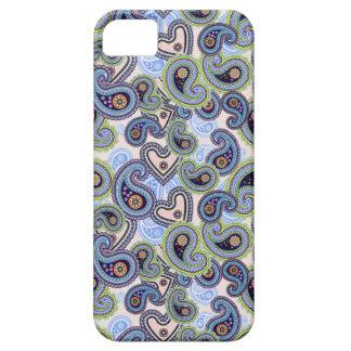 Cordón floral azul hermoso de Paisley iPhone 5 Cobertura
