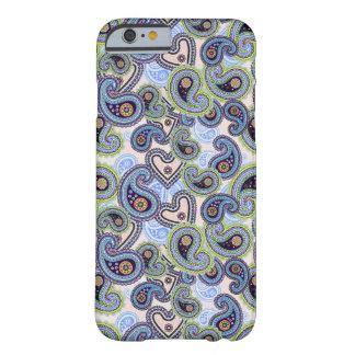 Cordón floral azul hermoso de Paisley Funda De iPhone 6 Slim