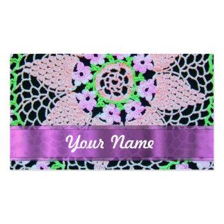 cordón floral bonito tarjetas de visita