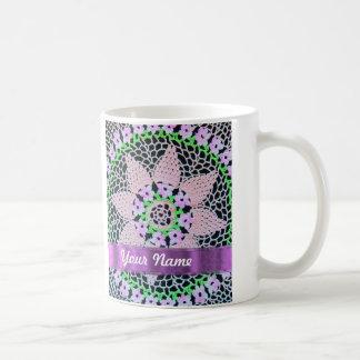cordón floral bonito taza de café