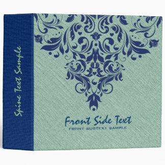 Cordón floral de lino del azul real de la textura