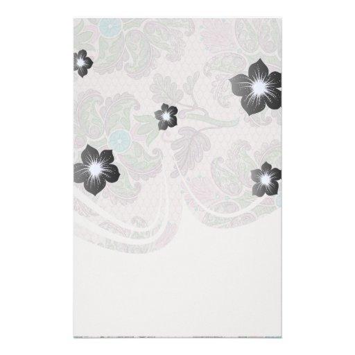 cordón floral del damasco de la primavera de los p papeleria