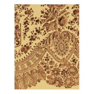 Cordón floral del oro postal
