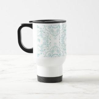 Cordón floral del vintage en modelo del trullo taza de viaje