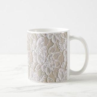 Cordón floral del vintage taza de café