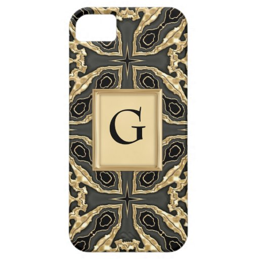 Cordón formal del oro iPhone 5 carcasas