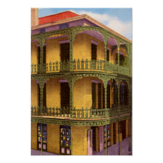 Cordón Grillwork de New Orleans Luisiana Póster