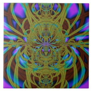 Cordón intenso azulejo cuadrado grande