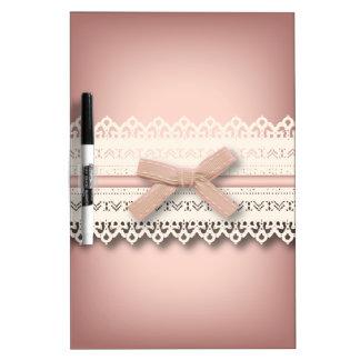 cordón lindo del arco del rosa de la princesa del pizarra blanca