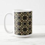 Cordón metálico del oro tazas de café