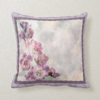 Cordón-mirada floral púrpura almohadas