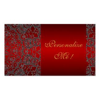 Cordón moderno negro de moda elegante femenino tarjetas de visita