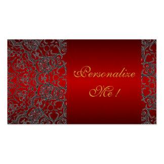 Cordón moderno negro elegante femenino inicial tarjetas de visita