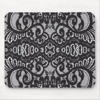 cordón negro bohemio elegante lamentable femenino mousepads