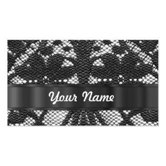 Cordón negro personalizado tarjetas de visita