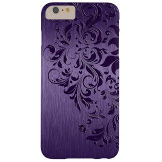 Cordón púrpura de aluminio cepillado púrpura funda de iPhone 6 plus barely there