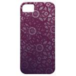 Cordón púrpura iPhone 5 cárcasas
