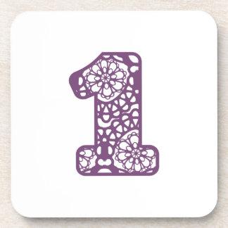 Cordón púrpura lindo y femenino número 1 UN A23 Posavasos