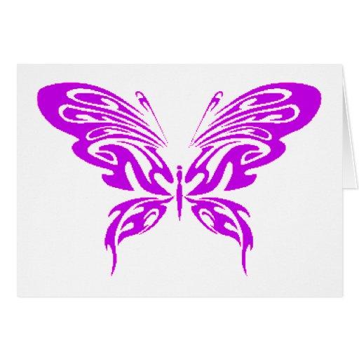 Cordón púrpura tarjeta