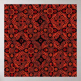 cordón rojo póster
