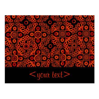 cordón rojo tarjetas postales
