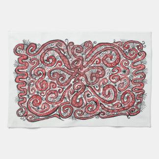 cordón rojo toalla