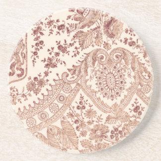 Cordón rosado con los rosas posavasos manualidades