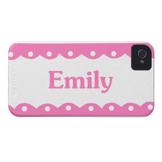 Cordón rosado conocido de Emily iPhone 4 Case-Mate Carcasas
