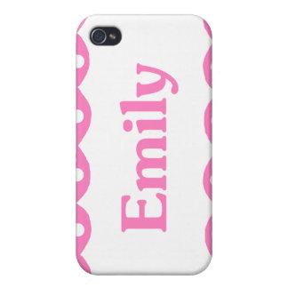 Cordón rosado conocido de Emily iPhone 4 Protector