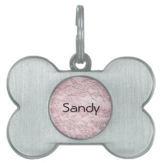 Cordón rosado placas mascota