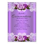 Cordón rosado púrpura del blanco de los rosas del comunicados personales